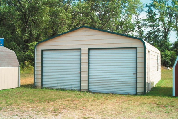 2 car garage with carport